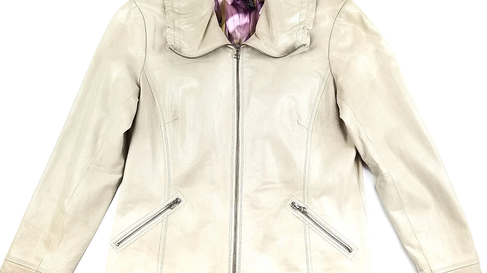Danier off white leather jacket size XL