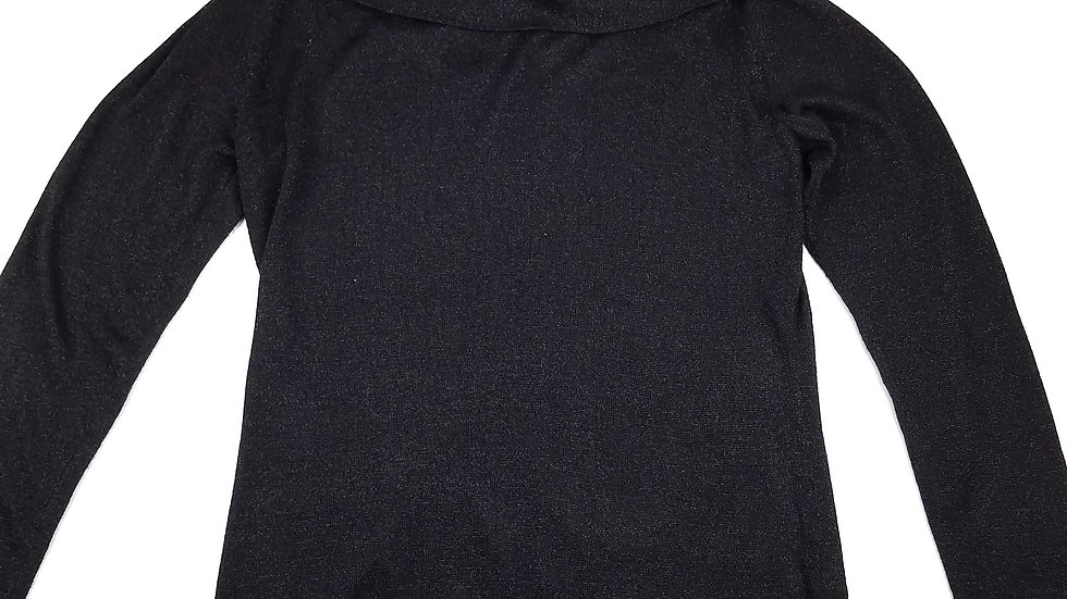 Tradition black cowl neck top size small