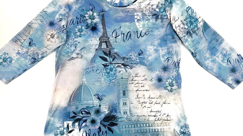 Alia blue France top size small