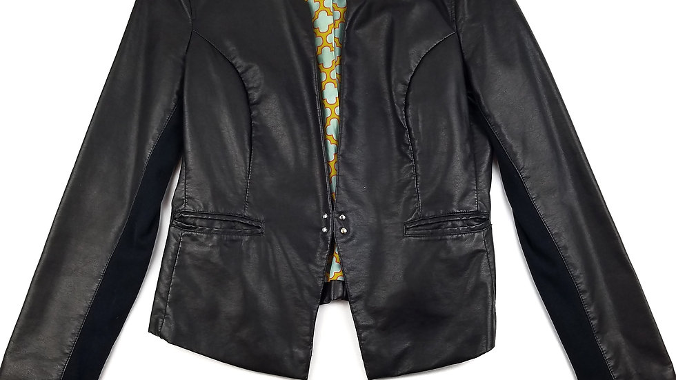 Black Rivet black faux leather jacket size large