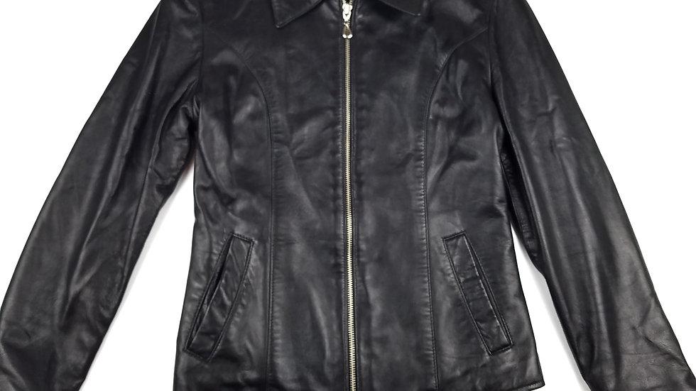 Angelina black leather jacket size small