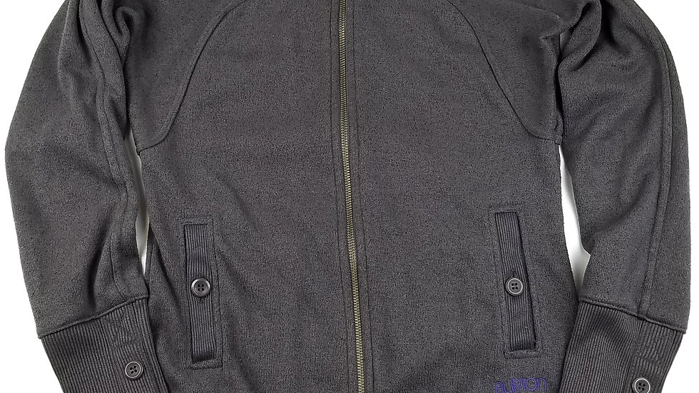 Burton grey hooded zip sweater size small