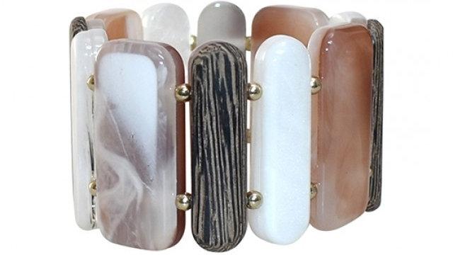 Shell bracelet brown