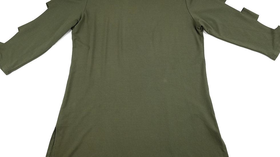 Papa green tunic with arm cutouts size medium