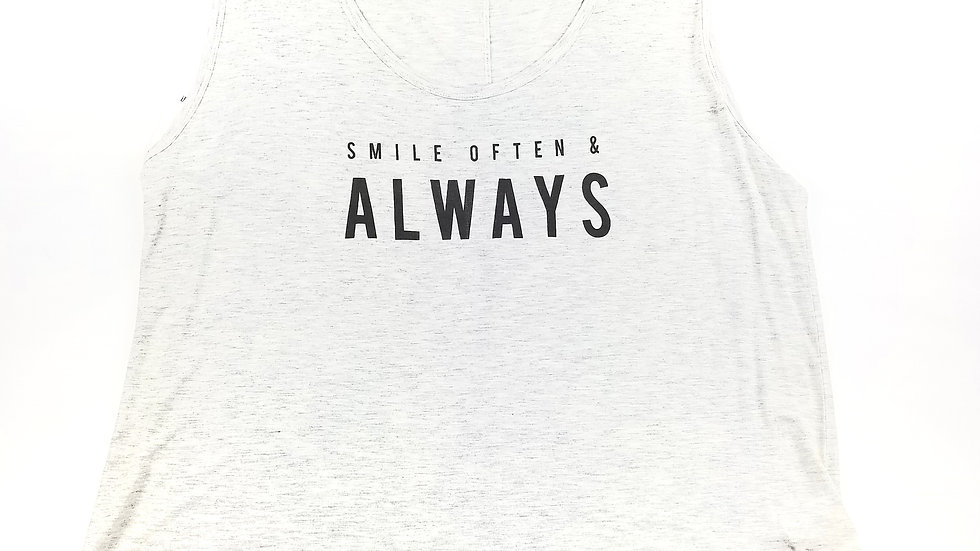 """Old Navy tank """"smile often"""" size 2Xlarge"""