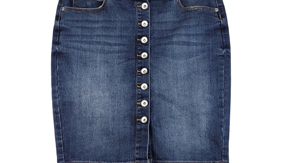 Cherokee button up denim skirt size 6