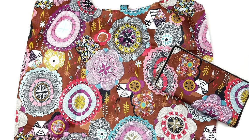 Reusable zip up shopping bag