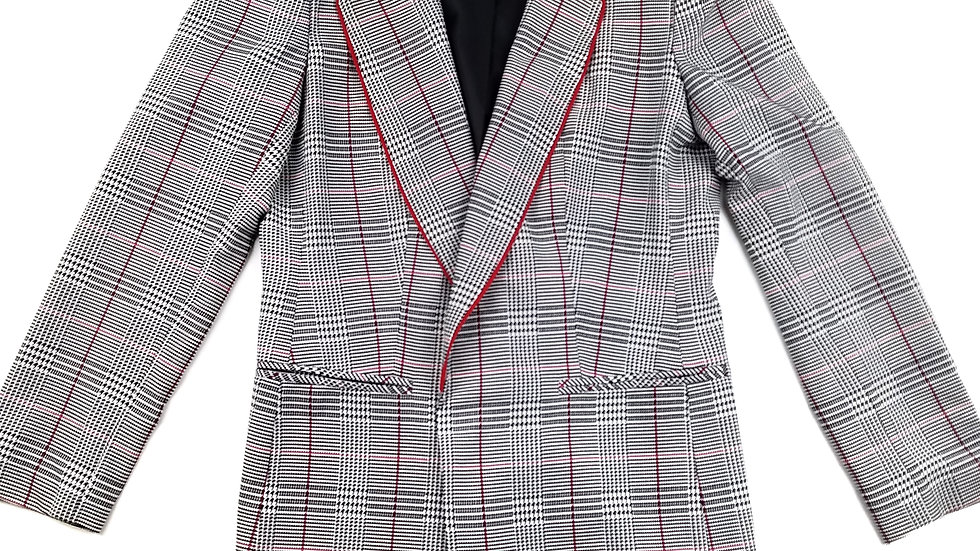 Nygard black/red/white suit jacket size small