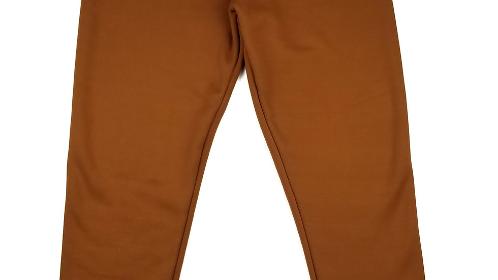 Just Cozy rust fleece lined leggings size XL