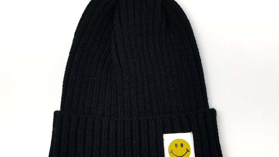 Black toque with happy face (new)