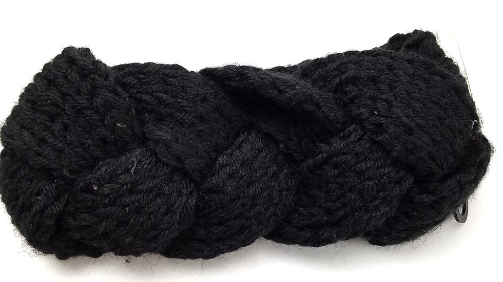 Knit headband black