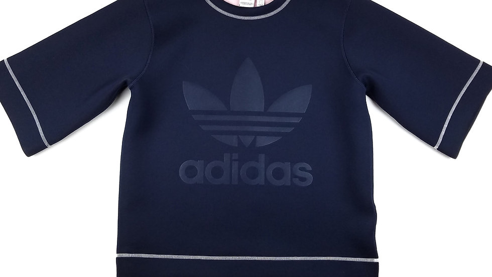Adidas navy elastin athletic top size small