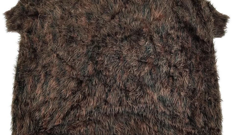 Orange brown and black fuzzy top size medium