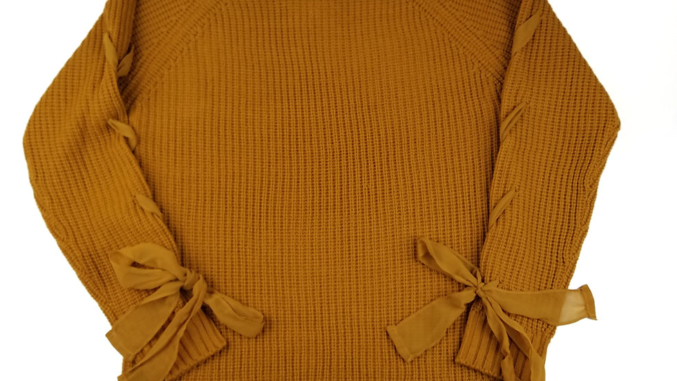 Urbanology mustard knit sweater size large