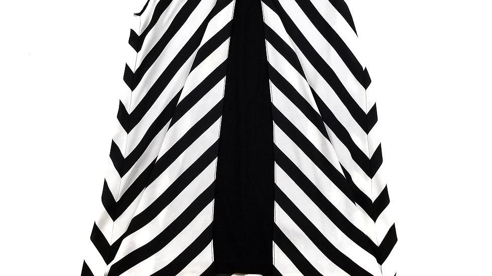 Frank Lyman black dress with black/white overlay size 10