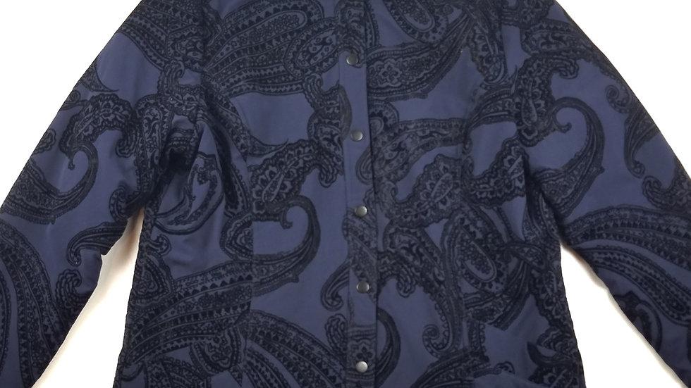 Zenergy blue/black paisley jacket size 2 (large)