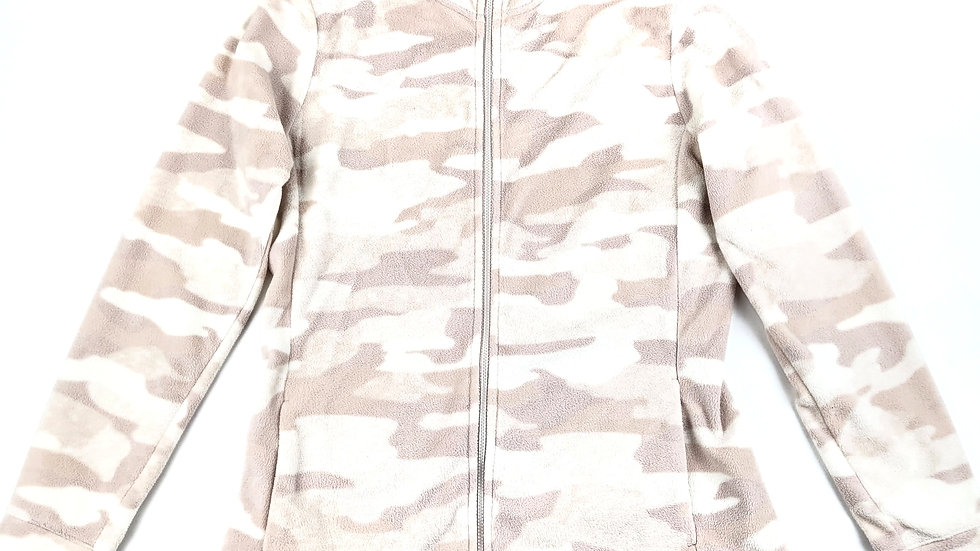 Old Navy pink/white fleece zip up size small