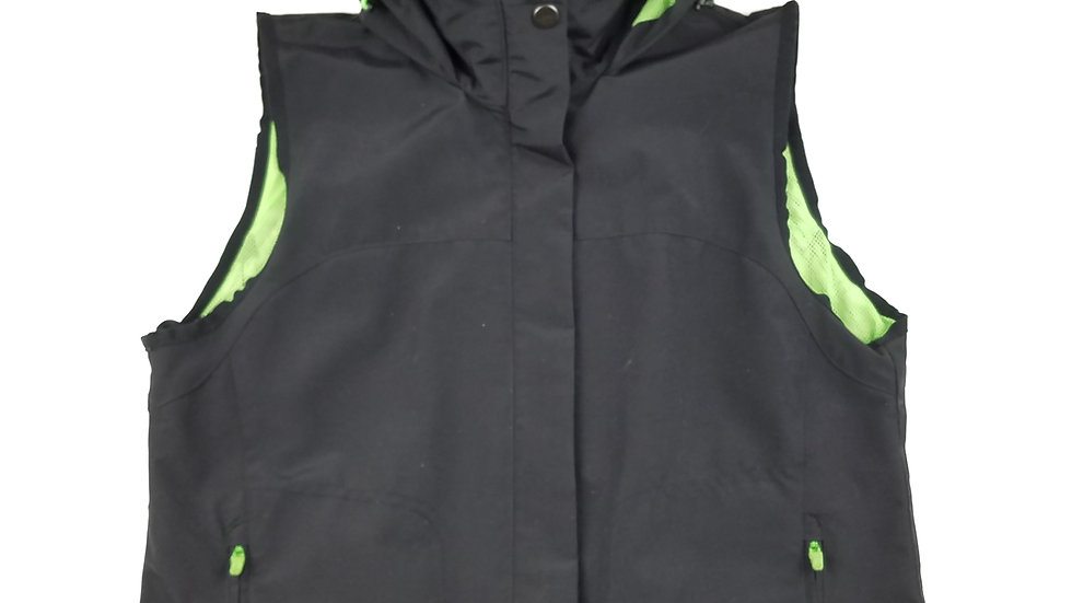 Ralph Lauren black vest with neon green lining size small
