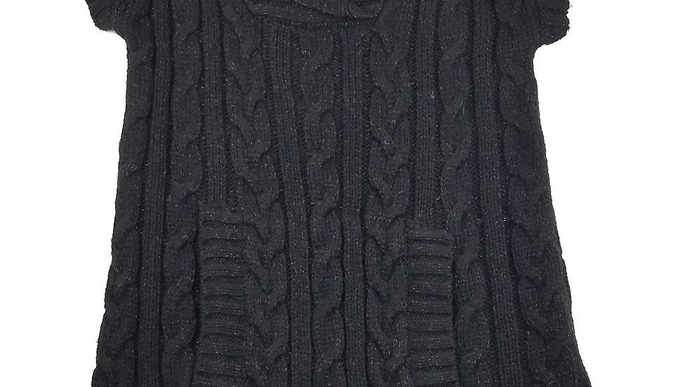 INC black sleeveless long sweater size large