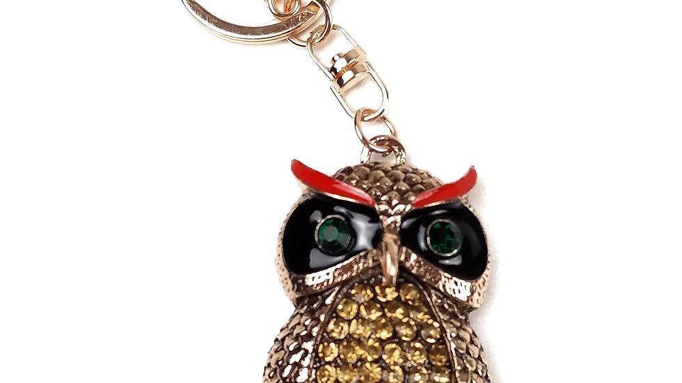Owl bling key ring