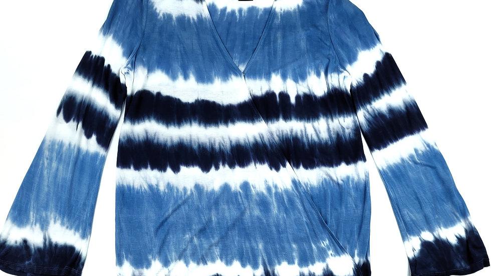 INC blue/white tie dye top size XL