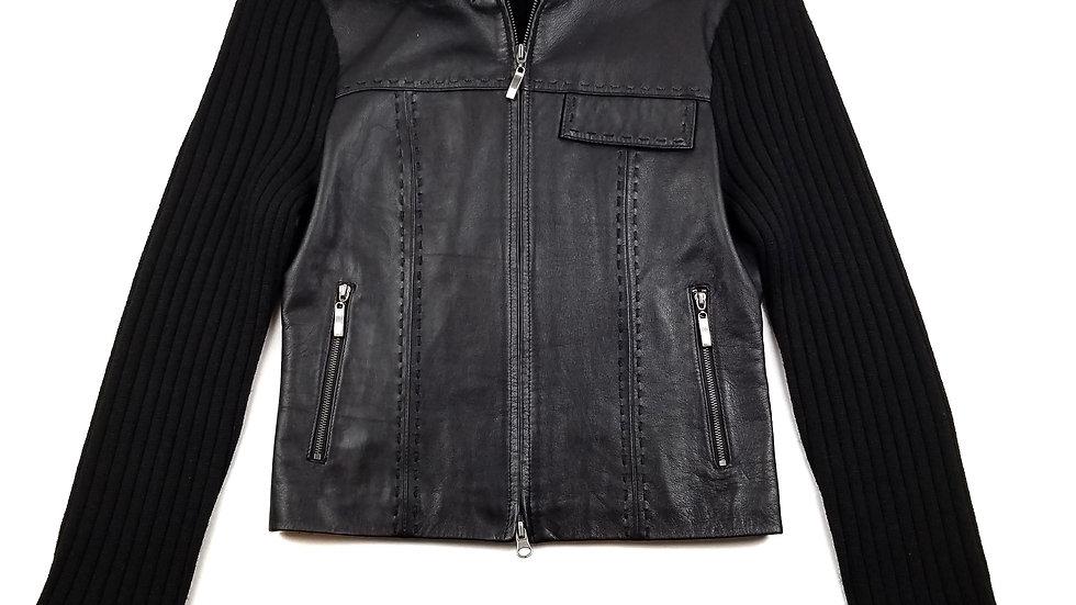Phosphorus leather sweater coat size medium