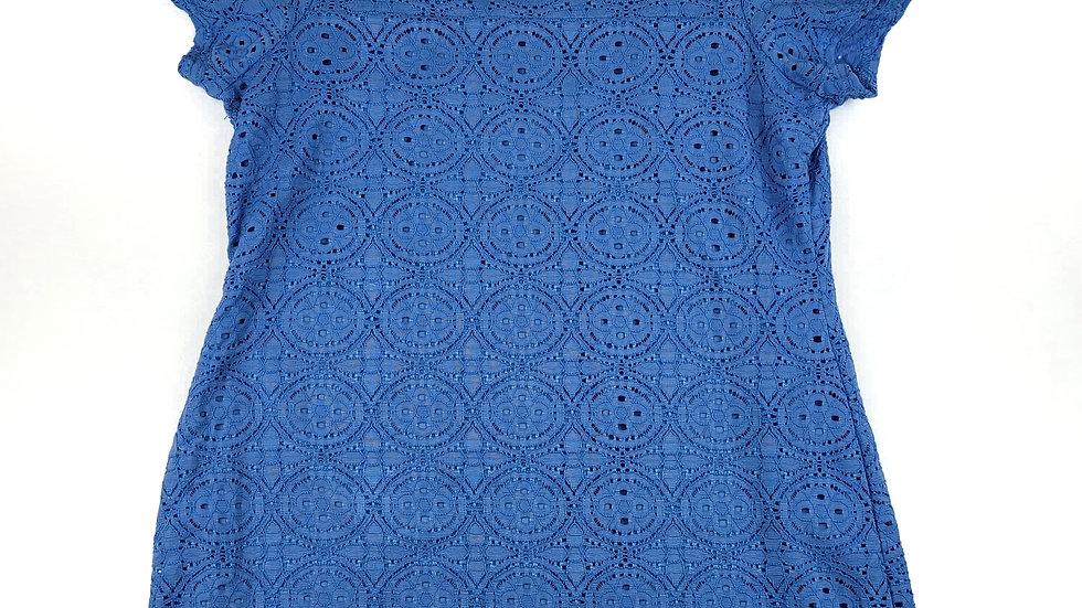 Nina Leonard blue lace top size XL