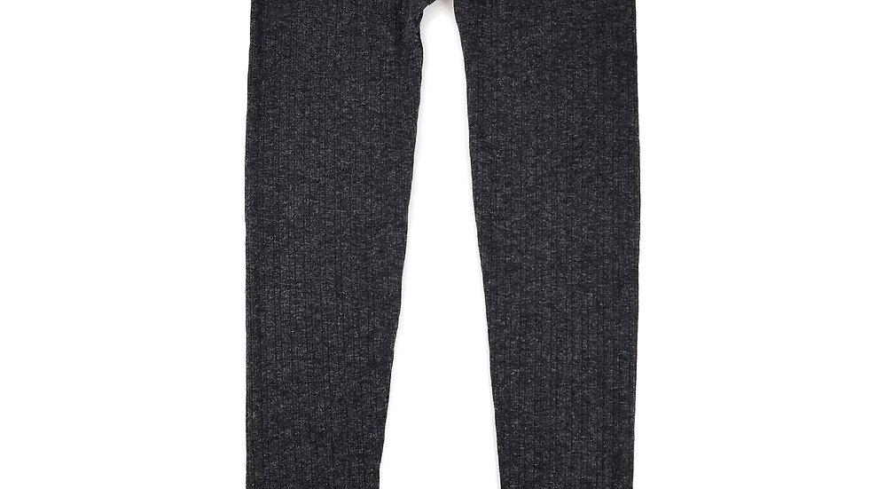 Just One grey rib knit sparkle legging size medium