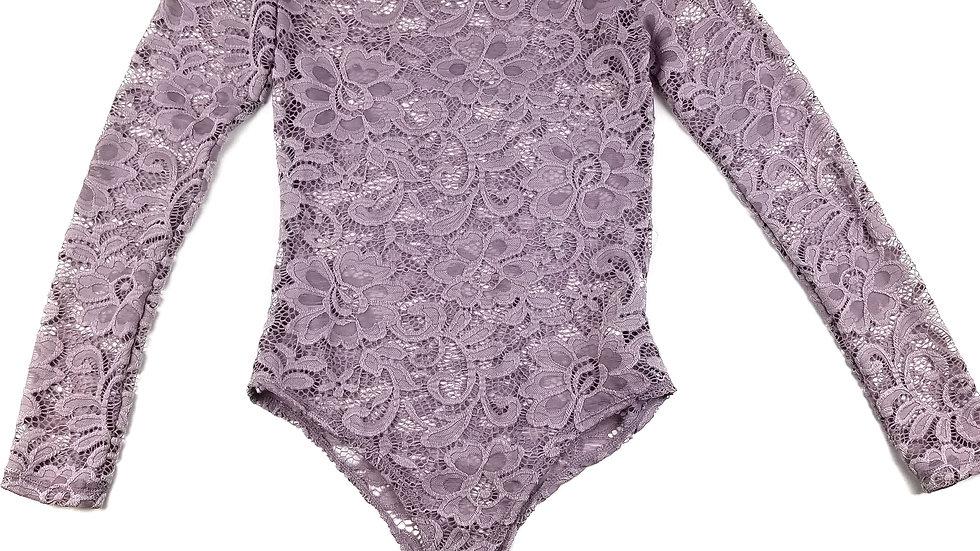 Streetwear lilac lace bodysuit size medium