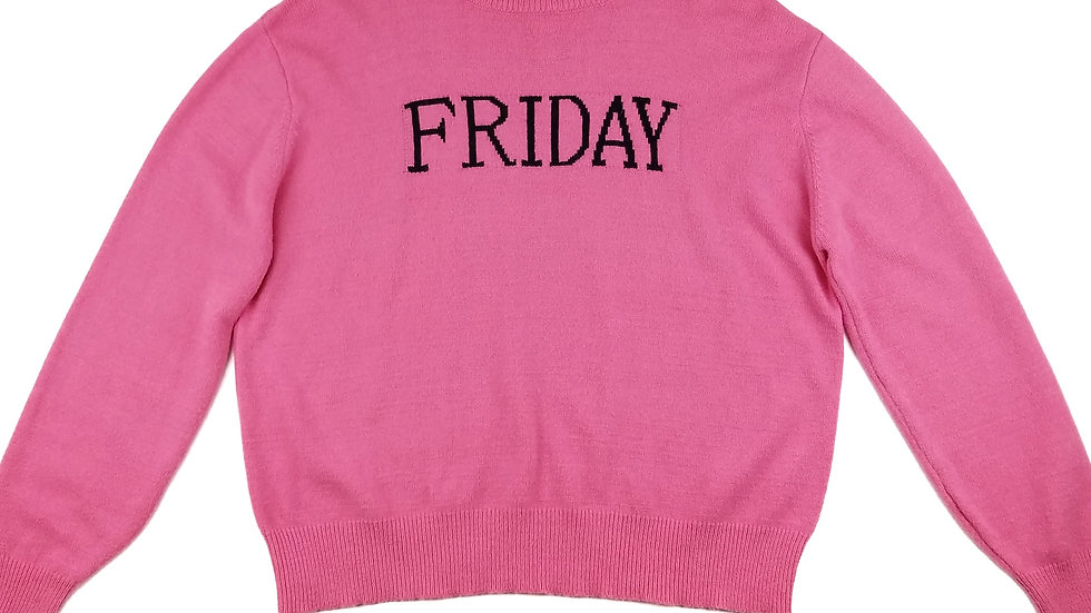 Poor pink Friday sweater size large