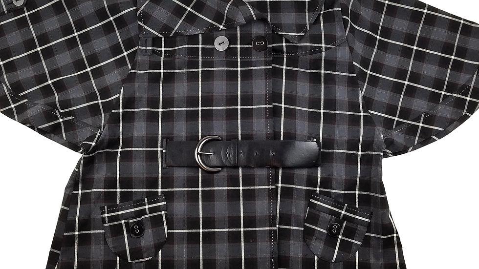 Contempo plaid belted Cape/Jacket size 18