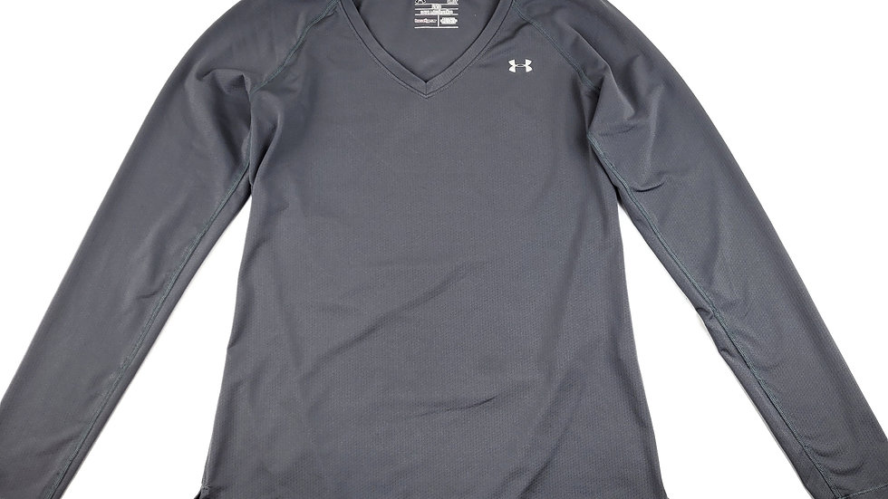 Underarmour grey long sleeve athletic top size small
