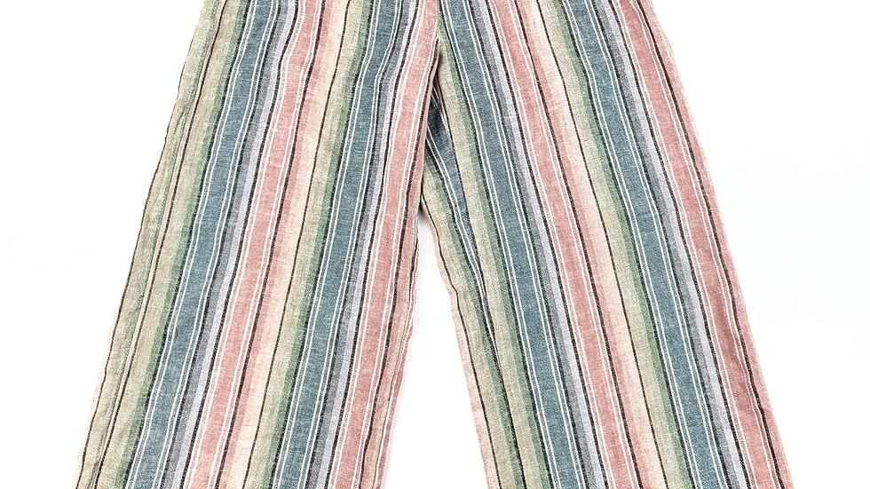 Indigo Rein stripped linen pants size medium