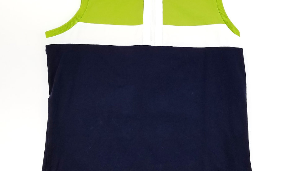 Ralph Lauren active top navy/white/neon green size medium