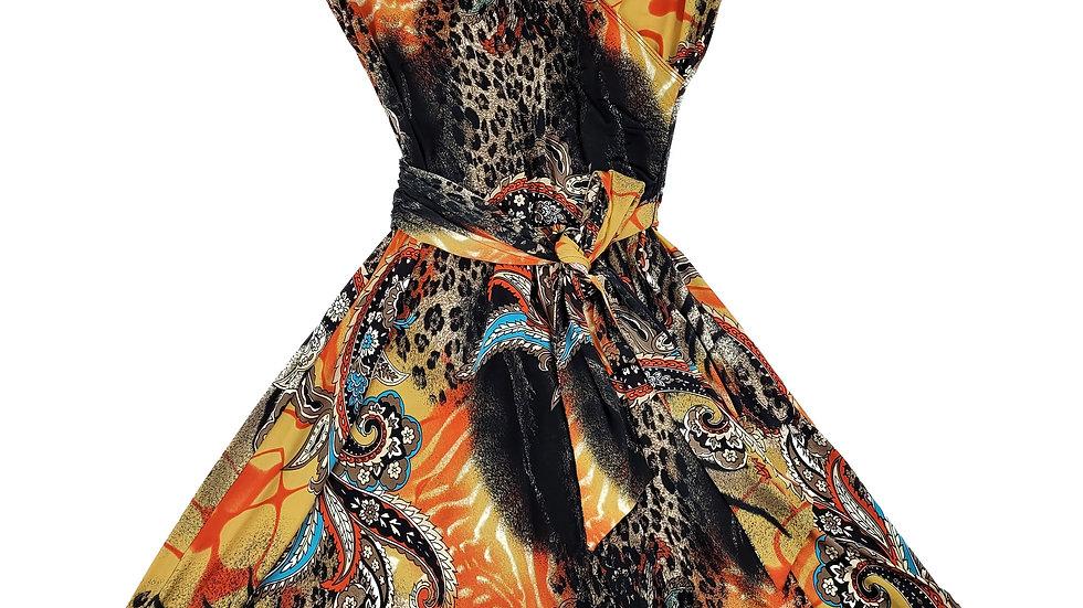 AXL multi coloured wrap dress size large