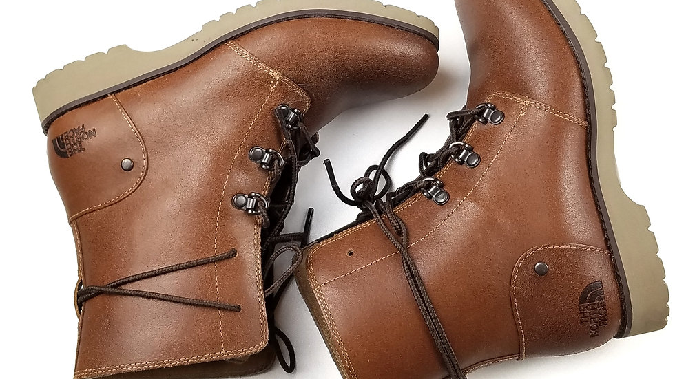 The North Face brown lace up boots size 6