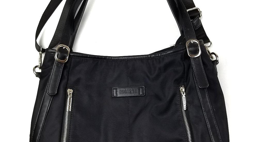 Roots black handbag