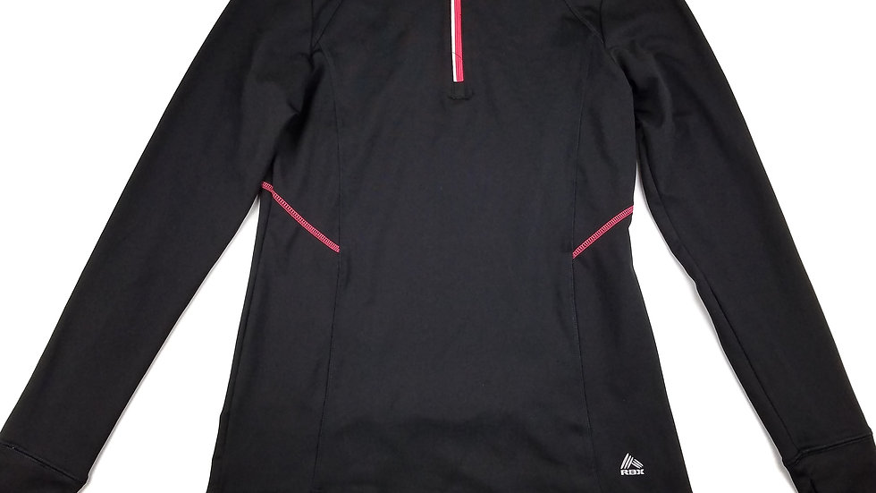 RBX black/coral 1/4 zip size small