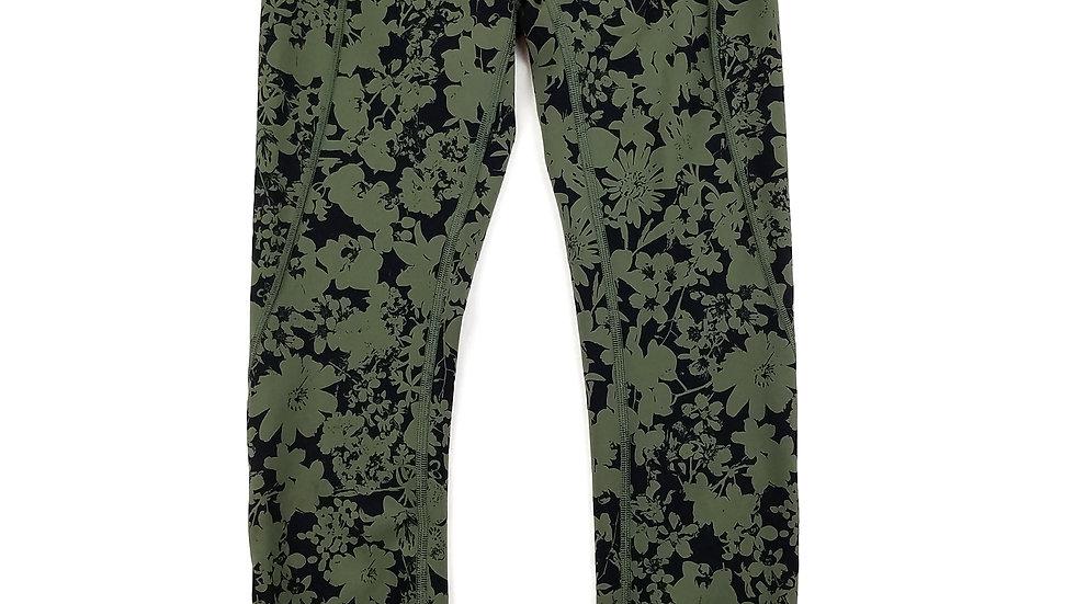 Lululemon green floral legging size 2