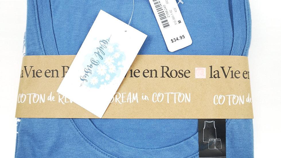 La vie en Rose 2pc pj set blue size Med