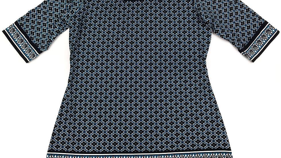 Max Studio teal pattern tunic size large