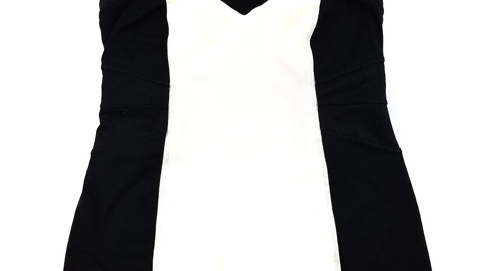 Lululemon black and white tank top size 8