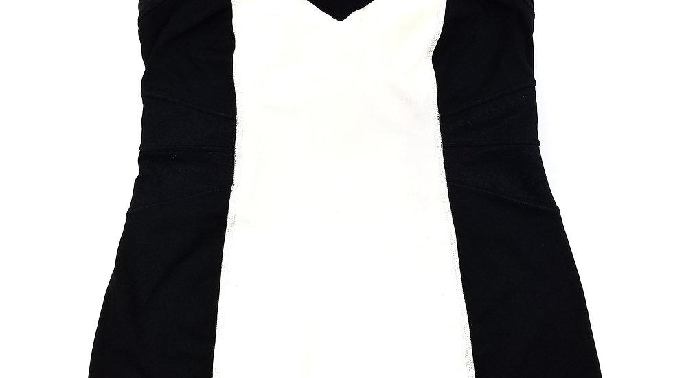 Lululemon black and white tank top size 8
