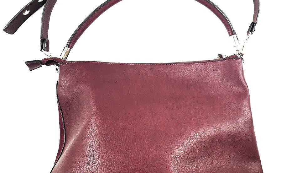 LA Diva burgundy handbag