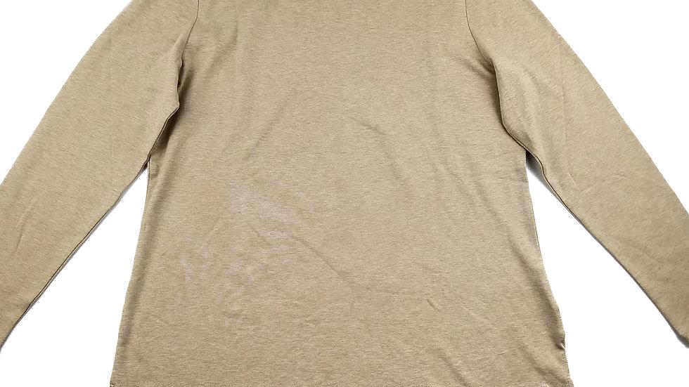 Isaac Mizrahi beige long sleeve turtleneck top  size large