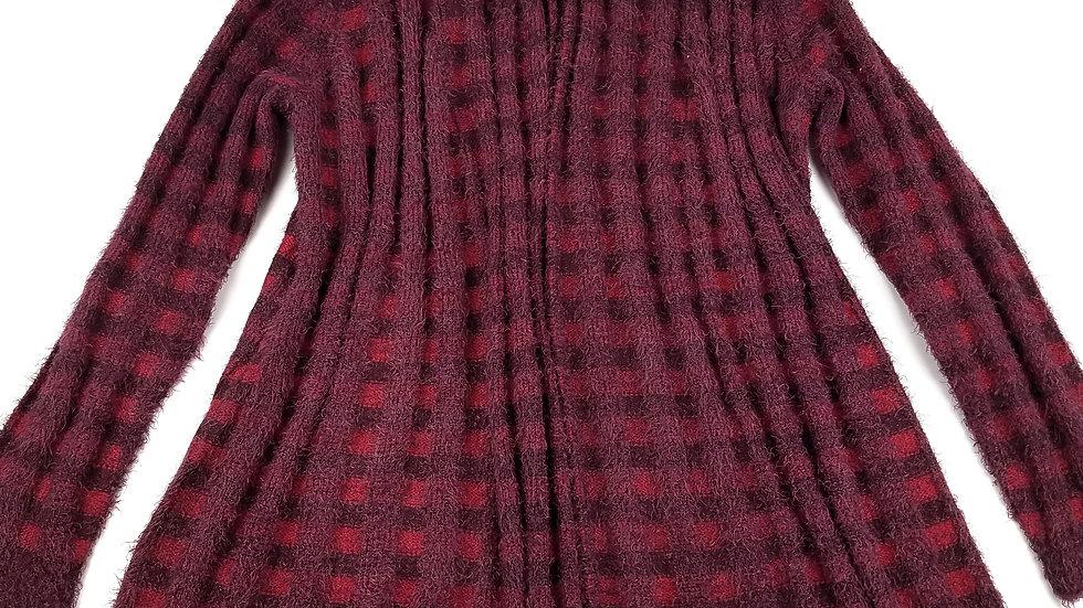 Isaac Mizrahi burgundy/red soft cardigan size large
