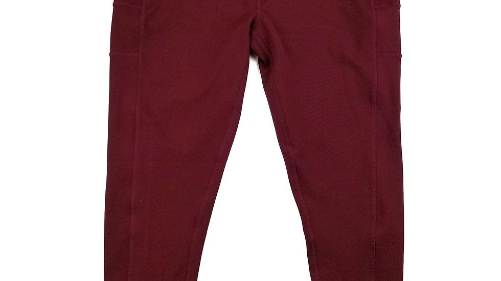 Pop Fit Athlete wear burgundy legging size 2XL