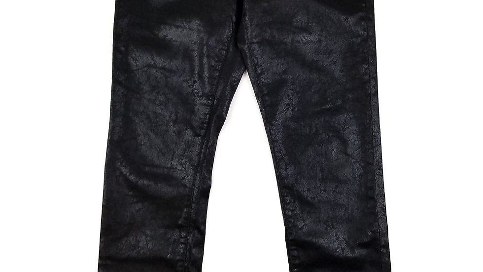 Piccadilly black pants with crackle sheen pattern size 12