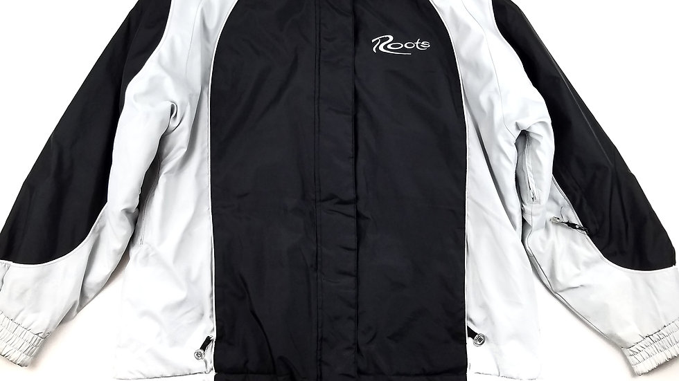 Roots black and grey jacket size 16