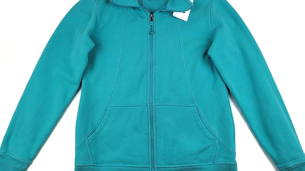 Tuff Athletics teal zip sweater size medium